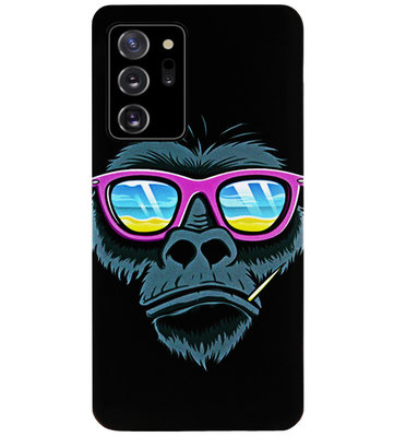 ADEL Siliconen Back Cover Softcase Hoesje voor Samsung Galaxy Note 20 - Gorilla Apen