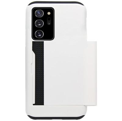 ADEL Kunststof Back Cover Hardcase Hoesje voor Samsung Galaxy Note 20 - Pasjeshouder Wit