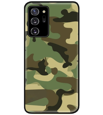 ADEL Siliconen Back Cover Softcase Hoesje voor Samsung Galaxy Note 20 - Camouflage