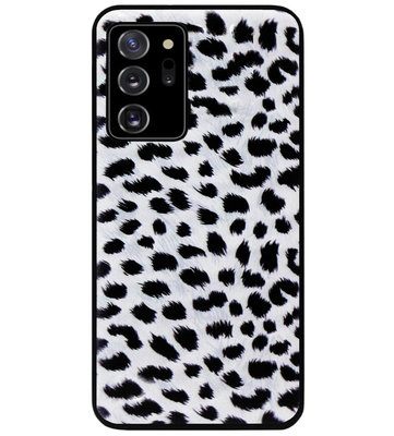 ADEL Siliconen Back Cover Softcase Hoesje voor Samsung Galaxy Note 20 - Luipaard Wit