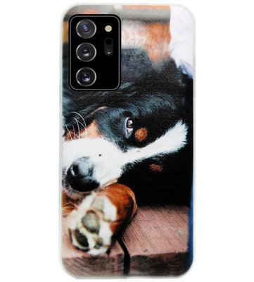 ADEL Siliconen Back Cover Softcase Hoesje voor Samsung Galaxy Note 20 - Berner Sennenhond