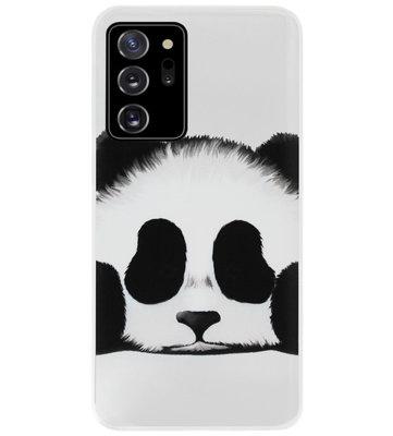ADEL Siliconen Back Cover Softcase Hoesje voor Samsung Galaxy Note 20 - Panda