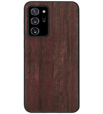 ADEL Siliconen Back Cover Softcase Hoesje voor Samsung Galaxy Note 20 - Hout Design Bruin