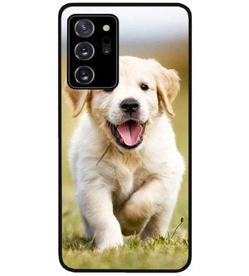 ADEL Siliconen Back Cover Softcase Hoesje voor Samsung Galaxy Note 20 - Labrador Retriever Hond