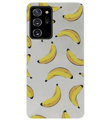 ADEL Siliconen Back Cover Softcase Hoesje voor Samsung Galaxy Note 20 - Bananen Geel