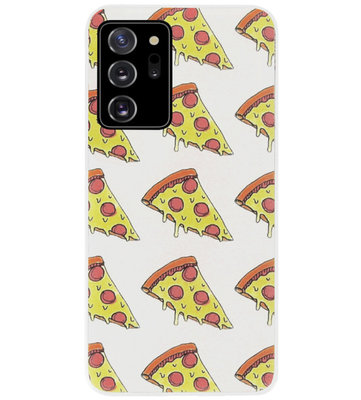 ADEL Siliconen Back Cover Softcase Hoesje voor Samsung Galaxy Note 20 - Junkfood Pizza