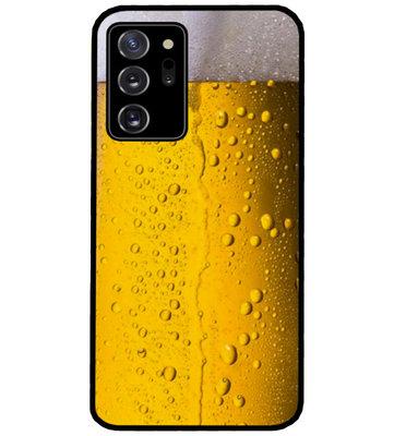 ADEL Siliconen Back Cover Softcase Hoesje voor Samsung Galaxy Note 20 - Pils Bier