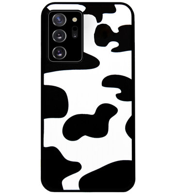 ADEL Siliconen Back Cover Softcase Hoesje voor Samsung Galaxy Note 20 - Koeienhuid