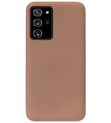 ADEL Siliconen Back Cover Softcase Hoesje voor Samsung Galaxy Note 20 - Bruin