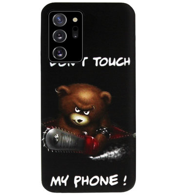 ADEL Siliconen Back Cover Softcase Hoesje voor Samsung Galaxy Note 20 - Don't Touch My Phone Beren
