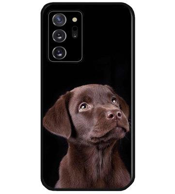 ADEL Siliconen Back Cover Softcase Hoesje voor Samsung Galaxy Note 20 - Labrador Retriever Hond Bruin