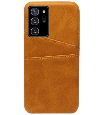 ADEL Kunstleren Back Cover Pasjes Hoesje voor Samsung Galaxy Note 20 - Bruin