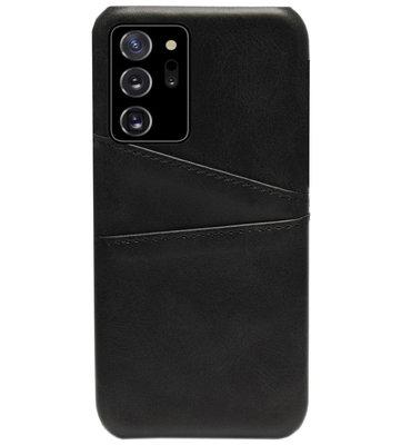 ADEL Kunstleren Back Cover Pasjes Hoesje voor Samsung Galaxy Note 20 - Zwart