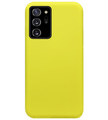 ADEL Premium Siliconen Back Cover Softcase Hoesje voor Samsung Galaxy Note 20 - Geel