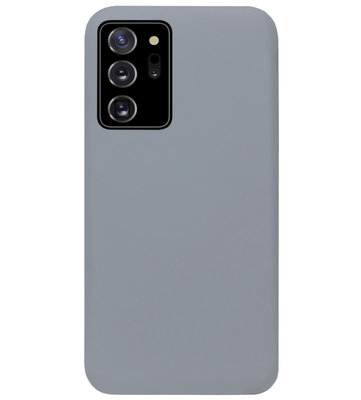 ADEL Siliconen Back Cover Softcase Hoesje voor Samsung Galaxy Note 20 - Grijs