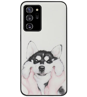 ADEL Siliconen Back Cover Softcase Hoesje voor Samsung Galaxy Note 20 - Husky Hond