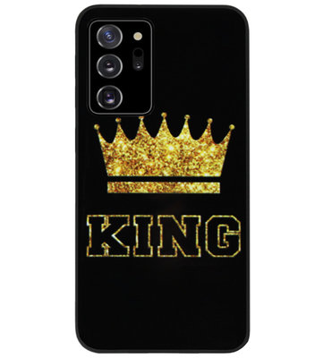 ADEL Siliconen Back Cover Softcase Hoesje voor Samsung Galaxy Note 20 - King Koning
