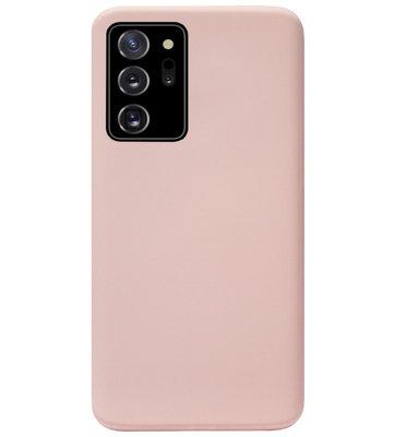 ADEL Premium Siliconen Back Cover Softcase Hoesje voor Samsung Galaxy Note 20 - Lichtroze