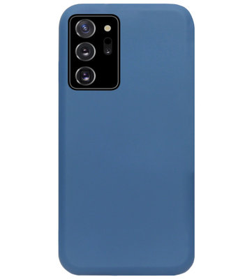 ADEL Premium Siliconen Back Cover Softcase Hoesje voor Samsung Galaxy Note 20 - Blauw