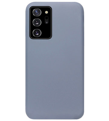 ADEL Premium Siliconen Back Cover Softcase Hoesje voor Samsung Galaxy Note 20 - Lavendel