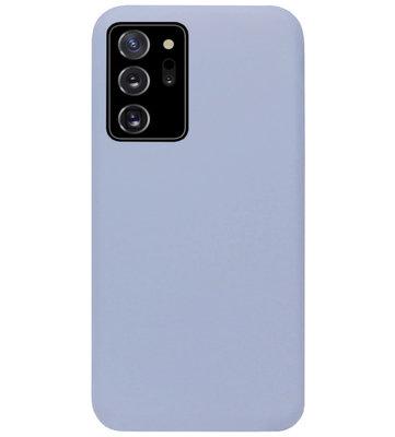 ADEL Premium Siliconen Back Cover Softcase Hoesje voor Samsung Galaxy Note 20 - Lavendel Grijs