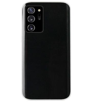 ADEL Siliconen Back Cover Softcase Hoesje voor Samsung Galaxy Note 20 - Doorzichtig Transparant