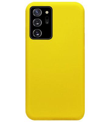 ADEL Siliconen Back Cover Softcase Hoesje voor Samsung Galaxy Note 20 - Geel