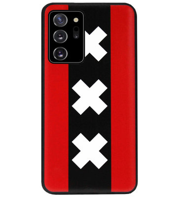ADEL Siliconen Back Cover Softcase Hoesje voor Samsung Galaxy Note 20 - Amsterdam Andreaskruisen