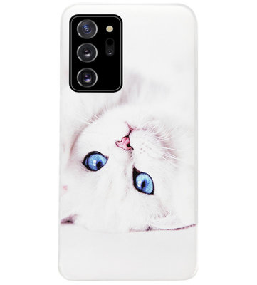 ADEL Siliconen Back Cover Softcase Hoesje voor Samsung Galaxy Note 20 - Katten