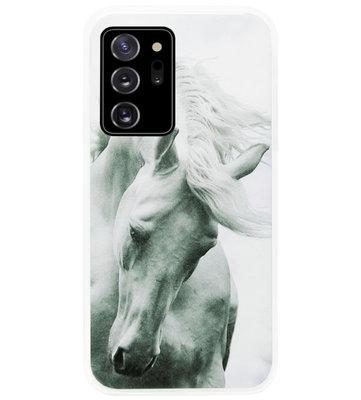 ADEL Siliconen Back Cover Softcase Hoesje voor Samsung Galaxy Note 20 - Paarden