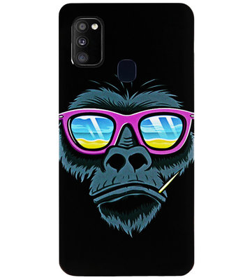 ADEL Siliconen Back Cover Softcase Hoesje voor Samsung Galaxy M30s/ M21 - Gorilla Apen