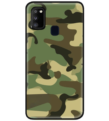 ADEL Siliconen Back Cover Softcase Hoesje voor Samsung Galaxy M30s/ M21 - Camouflage