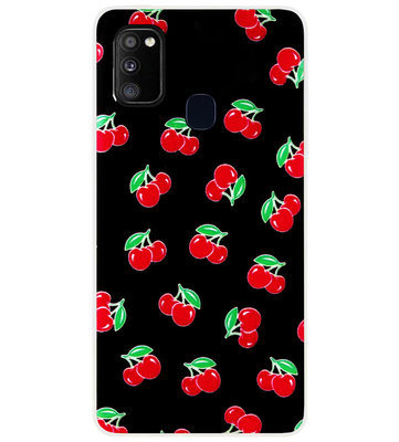 ADEL Siliconen Back Cover Softcase Hoesje voor Samsung Galaxy M30s/ M21 - Fruit
