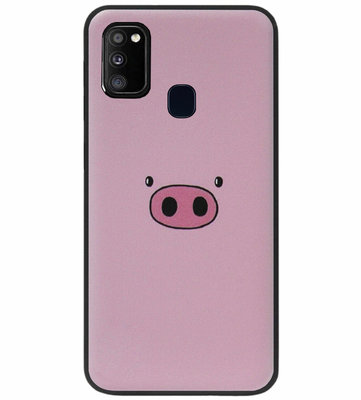 ADEL Siliconen Back Cover Softcase Hoesje voor Samsung Galaxy M30s/ M21 - Biggetje