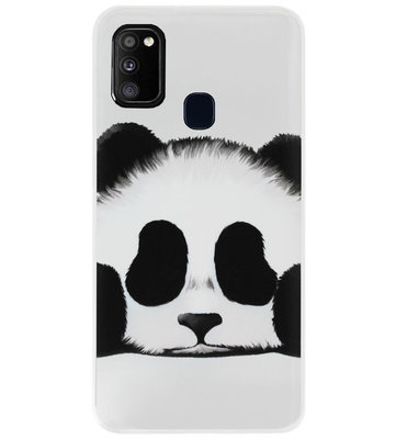 ADEL Siliconen Back Cover Softcase Hoesje voor Samsung Galaxy M30s/ M21 - Panda