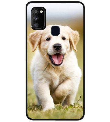 ADEL Siliconen Back Cover Softcase Hoesje voor Samsung Galaxy M30s/ M21 - Labrador Retriever Hond