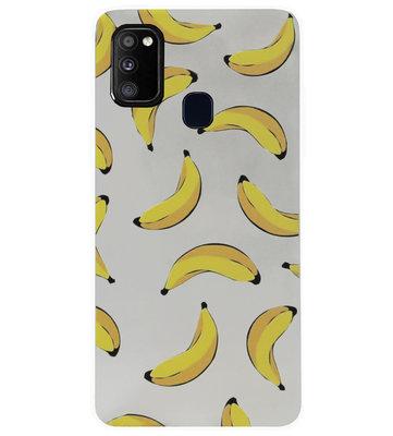 ADEL Siliconen Back Cover Softcase Hoesje voor Samsung Galaxy M30s/ M21 - Bananen Geel