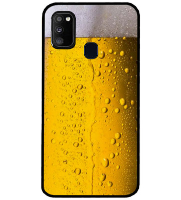 ADEL Siliconen Back Cover Softcase Hoesje voor Samsung Galaxy M30s/ M21 - Pils Bier
