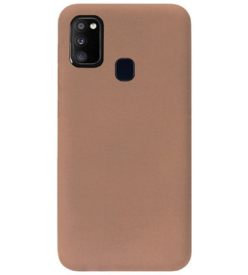 ADEL Siliconen Back Cover Softcase Hoesje voor Samsung Galaxy M30s/ M21 - Bruin