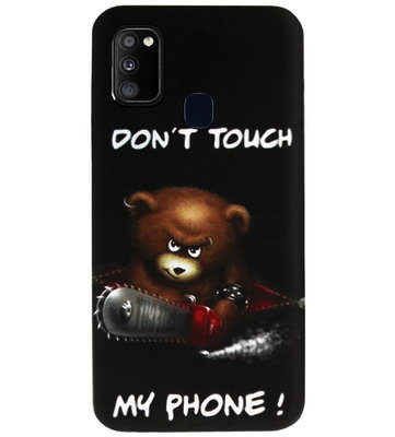 ADEL Siliconen Back Cover Softcase Hoesje voor Samsung Galaxy M30s/ M21 - Don't Touch My Phone Beren