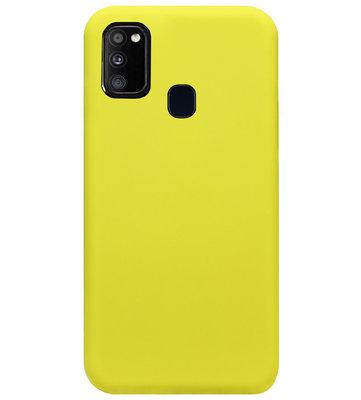 ADEL Premium Siliconen Back Cover Softcase Hoesje voor Samsung Galaxy M30s/ M21 - Geel
