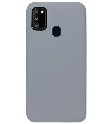 ADEL Siliconen Back Cover Softcase Hoesje voor Samsung Galaxy M30s/ M21 - Grijs