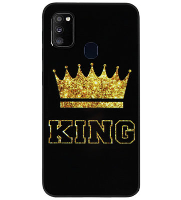 ADEL Siliconen Back Cover Softcase Hoesje voor Samsung Galaxy M30s/ M21 - King Koning
