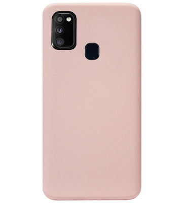 ADEL Premium Siliconen Back Cover Softcase Hoesje voor Samsung Galaxy M30s/ M21 - Lichtroze