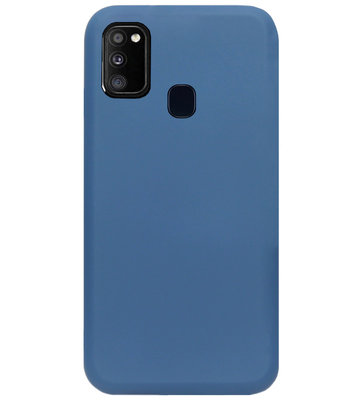 ADEL Premium Siliconen Back Cover Softcase Hoesje voor Samsung Galaxy M30s/ M21 - Blauw