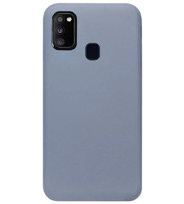 ADEL Premium Siliconen Back Cover Softcase Hoesje voor Samsung Galaxy M30s/ M21 - Lavendel