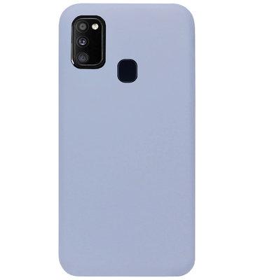 ADEL Premium Siliconen Back Cover Softcase Hoesje voor Samsung Galaxy M30s/ M21 - Lavendel Grijs