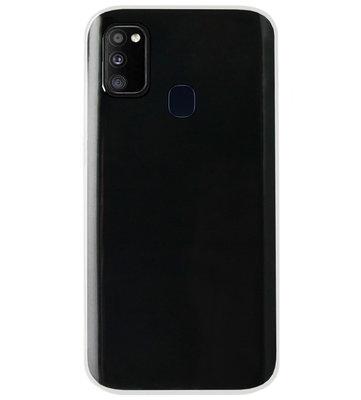 ADEL Siliconen Back Cover Softcase Hoesje voor Samsung Galaxy M30s/ M21 - Doorzichtig Transparant