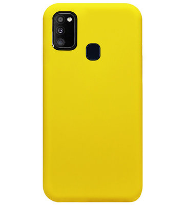 ADEL Siliconen Back Cover Softcase Hoesje voor Samsung Galaxy M30s/ M21 - Geel