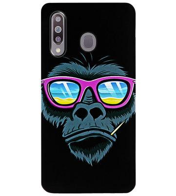 ADEL Siliconen Back Cover Softcase Hoesje voor Samsung Galaxy M30 - Gorilla Apen